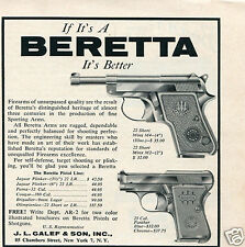 1961 JL Galef & Son Beretta 22 Short Minx M4 & 25 Cal Panther Pistol Print Ad