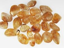 4 oz Bulk CITRINE Tumbled Stones Crystal Healing Jewelry Medium BRAZIL 1/4 lb FS