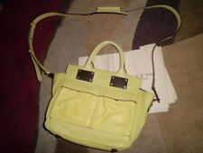 Rag and Bone yellow leather pilot bag small handle strap nwt cross body celine