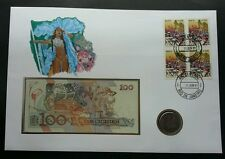 Brazil Traditional Samba Dance 1991 Costume FDC (banknote coin cover) *rare 3in1