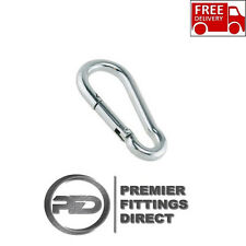 HEAVY DUTY 180mm Carabiner Snap Hook DIN 5299 Strong Steel Carabiner Spring Snap