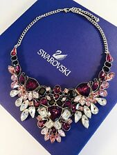 Swarovski Necklace Impulse 38cm Large Palladium Crystals Black Epoxy 5152821 BIB