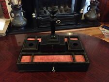 Stunning Victorian Antinque Jewellery Stand With Secret Compartments And Lock