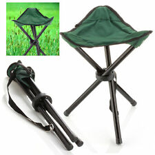 Folding Chair Outdoor Picnic Camping Fishing Portable of 3 Legs Seat Red L