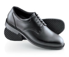 SFC Shoes for Crews Cambridge Black Leather Men's Shoes 6006 Sz 6 / 38 $42 NEW