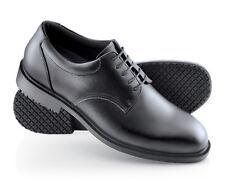 SFC Shoes for Crews Cambridge Black Leather Men's Shoes 6006 Sz 6 / 38 $42 NEW