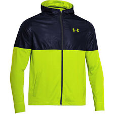 NWT UNDER ARMOUR MEN'S EMBOSSED Light Weight Full Zip Jacket with Hood Large #11