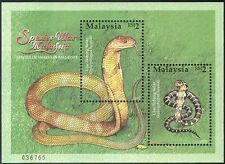 Malaysia 2002 King Cobra/Snakes/Reptiles/Animals/Nature/Wildlife 2v m/s (b8539)