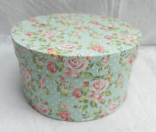 Country Rose Shabby Chic Floral Round Storage Box (B)
