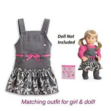 American Girl CL BITTY TWIN DUO CUTE CAMO JUMPER SIZE 5 Dress & Doll OUTFIT NEW