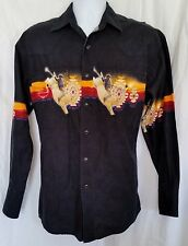 Wrangler Button Front Pearl Snap Western style Rodeo Cowboy shirt size M