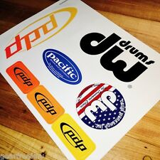 DW DRUM WORKSHOP PDP Pacific Drums Set Head Logo Decals Stickers Hardware Pedal