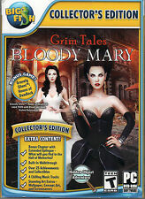 GRIM TALES: BLOODY MARY Hidden Object Collectors Edition + BONUS PC Game DVD NEW