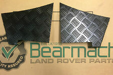 BEARMACH DEFENDER 90  BLACK CHEQUER PLATE REAR WING LOWER CORNER PROTECTORS BA12