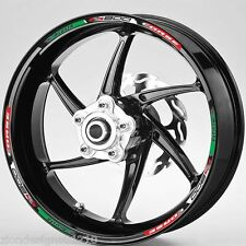MV Agusta F3 800 Corse  Italian flag wheel rim graphics x 12
