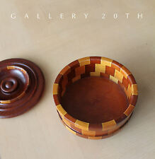 MID CENTURY MODERN CALIF REDWOOD CATCHALL! Pottery Eames 50s Wood Bowl Knoll Vtg