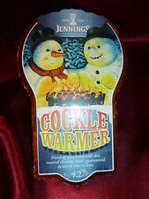 Vintage COCKLE WARMER JENNINGS CASK PUMP CLIP SIGN Beer Pub Ale Bitter Ads