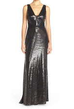 Vera Wang New Mesh Inset Sequin Gown Size 14 #HN 450
