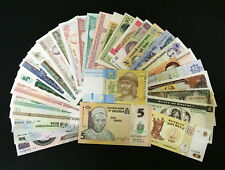 Lot 20pcs Bundle of All Different Legal World Foreign Money Banknotes Currencies
