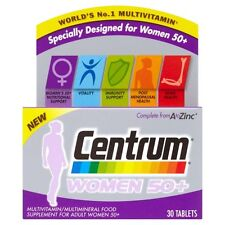 Centrum Women 50+ MultiVitamins 30 Tablets 1 Month Supply Worlds No.1 Vitamin