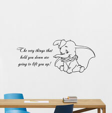 Dumbo Quotes Wall Decal Disney Elephant Vinyl Sticker Nursery Decor Mural 259crt