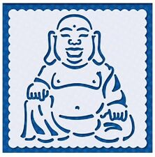 Flexible Stencil *CHINESE BUDDHA* Embossing, Card Making - 9.5cm x 9.5cm