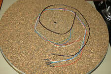 "Turntable Tonearm OFC color coded wires cables leads rewire kit set 21"", 0.5m"