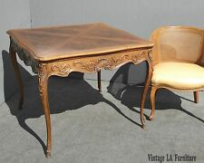 Vintage Carved French Provincial Dining Room TABLE Card Table w Cabriole Legs