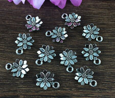 Wholesale 16pcs Tibet silver Sunflower Charm Pendant beaded Jewelry Findings X13