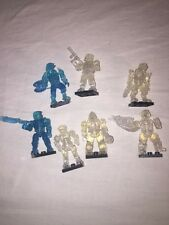 Halo Mega Bloks Minifigures UNSC Spartans Lot Active Camo Clear