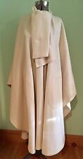 Vtg Mackintosh 70's USA Wool Ivory Cape Coat Jacket Poncho WRAP Scarf