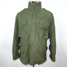 VINTAGE USMC 2nd BN STENCIL M-65 M65 FIELD JACKET W/ LINER MEDIUM REG 1972 ALPHA