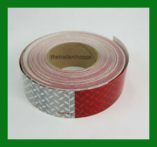 "CONSPICUITY Tape Diamond Red White DOT Safety Reflective Reflexite 2"" X 150'"