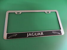 "(1pc)"" JAGUAR HALO "" Stainless Steel license plate frame"