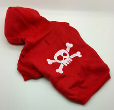 SMALL 23CM RED SCULL DOG HOODY JUMPER CHIHUAHUA YORKIE POM PUPPY