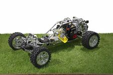 KM 3.0EX Silver 29cc Ported Silver 1/5th Scale RC Baja Buggy