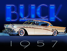 1957 Buick Classic car tin metal sign.