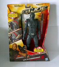 "G.I.JOE 12"" NINJA COMMANDO SNAKE EYES RETALIATION 2011 HASBRO NIP"