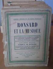 LA REVUE MUSICALE/ collection d'Arthur PETRONIO/ 26 N°, avec parties soulignées