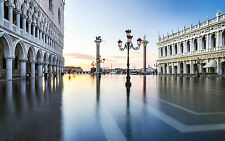 Venice Italy in the early hours of high tide  13 x 19 Giclee Print