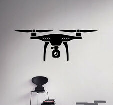 Drone Wall Decal Quadcopter Vinyl Sticker Spy Aircraft Home Art Decor 3(nse)