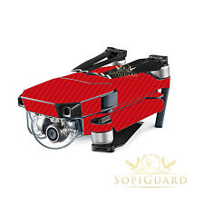 SopiGuard Red Carbon Fiber Skin Wrap Battery Controller for DJI Mavic Pro