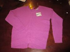NWT Derek Heart S  bright Pink knit long sleeve V-neck sweater laced tie back