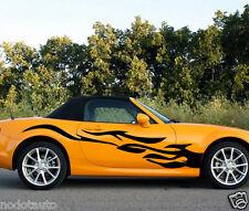Car Racing Flames Fire Door Decals for MX-5 Vinyl  Side Stickers #1105