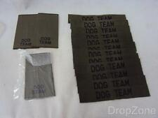 12 x Military Army Dog Team Khaki Tapes / Trade Badges Insignia & 2 Pairs Slides