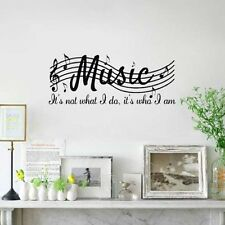 Chic Removable Art Mural Home Decor Wall Room Music Musical Notes Decal Sticker