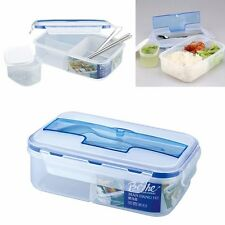 Portable Microwave Lunch Grid Bento Box Picnic Containers With Spoon Chopsticks