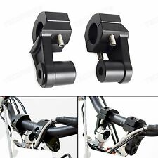 Universal CNC Black Handlebar Riser Adjustor Clamp Replace the OEM 1 1/8''/28mm