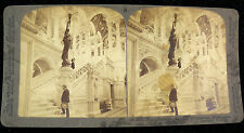 Underwood & Underwood Stereoview Card - Grand Staircase Library of Congress