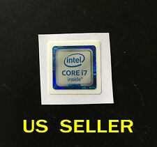 intel CORE i7 inside Sticker Badge For PC 6th Gen Version      18x18mm
